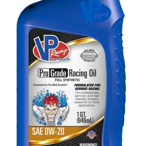 VP Full SYN 0W-20 Pro Grade Racing Oil Quart Retail Bottle